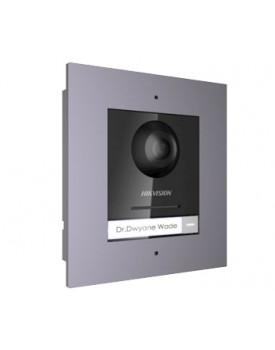 DS-KD8003-IME1/FLUSH Комплект модуля  IP панелі виклику + врізна рамка
